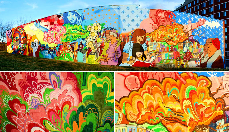 Murals krsko creative group for 4 seasons mural